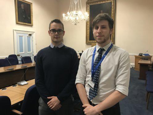 Councillor Braden Davy and Councillor Ben Lawrie