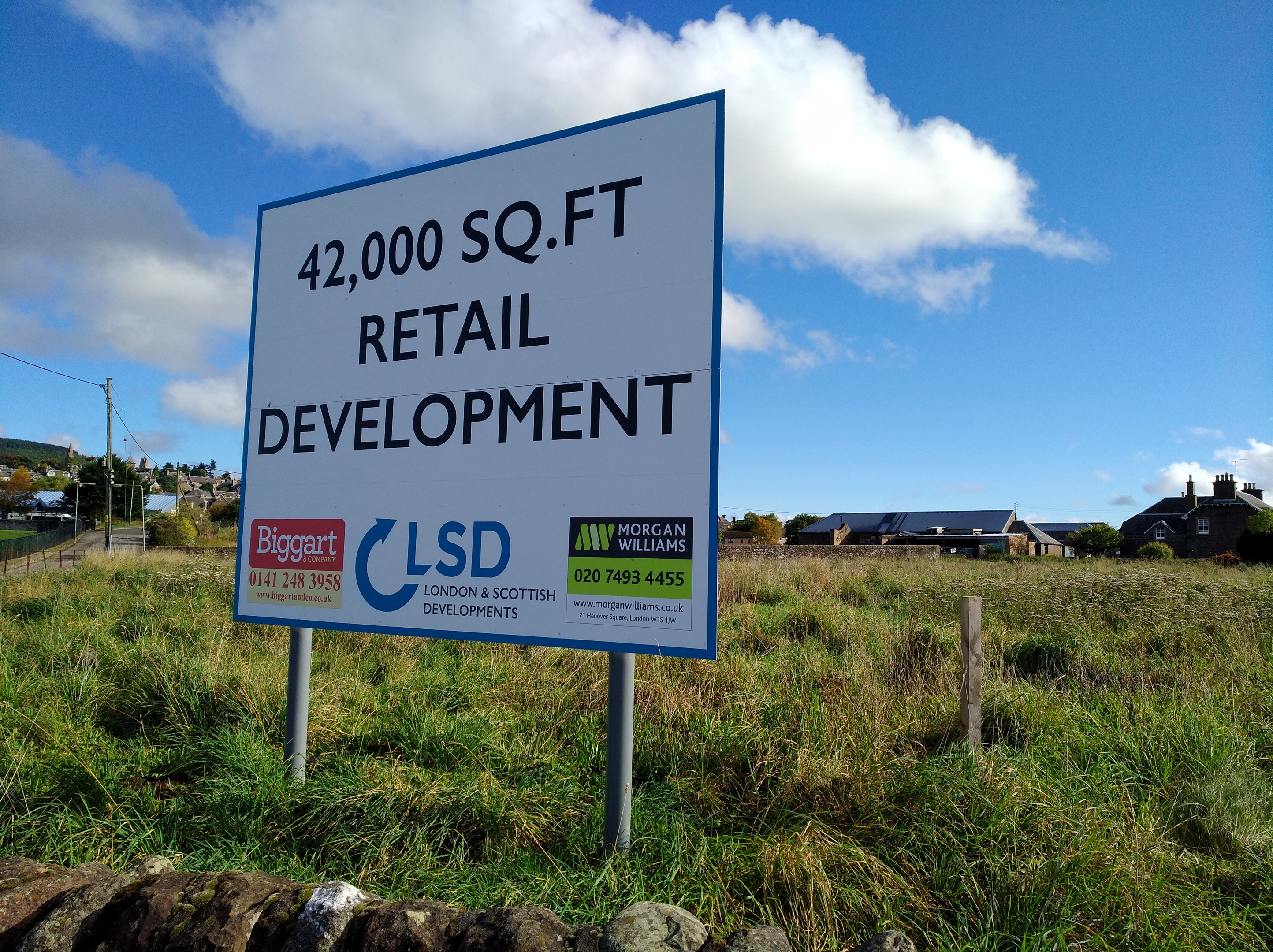 One of the potential development sites on Broich Road. A number of retailers have been linked to the land.