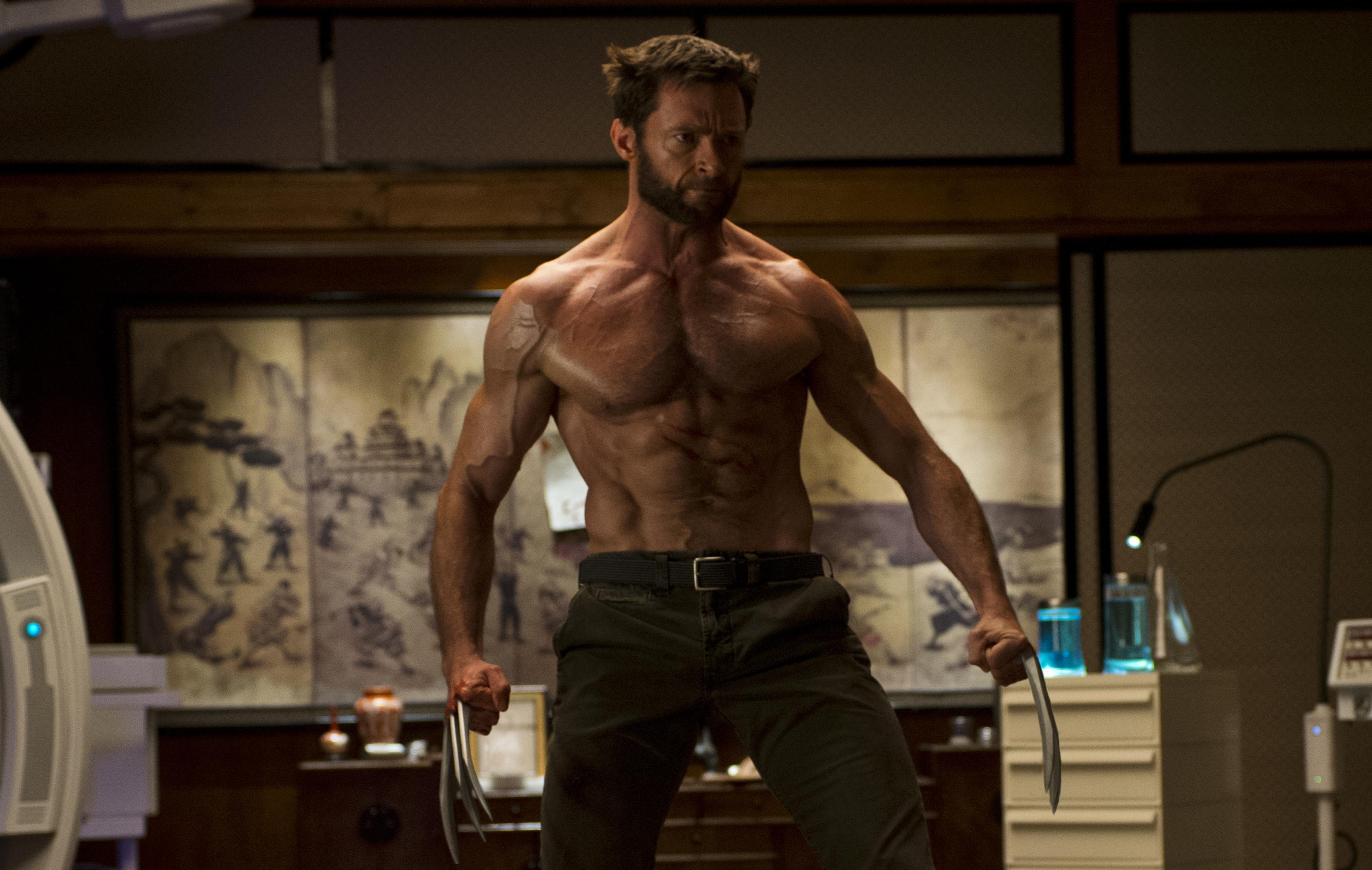 High Jackman as Wolverine.