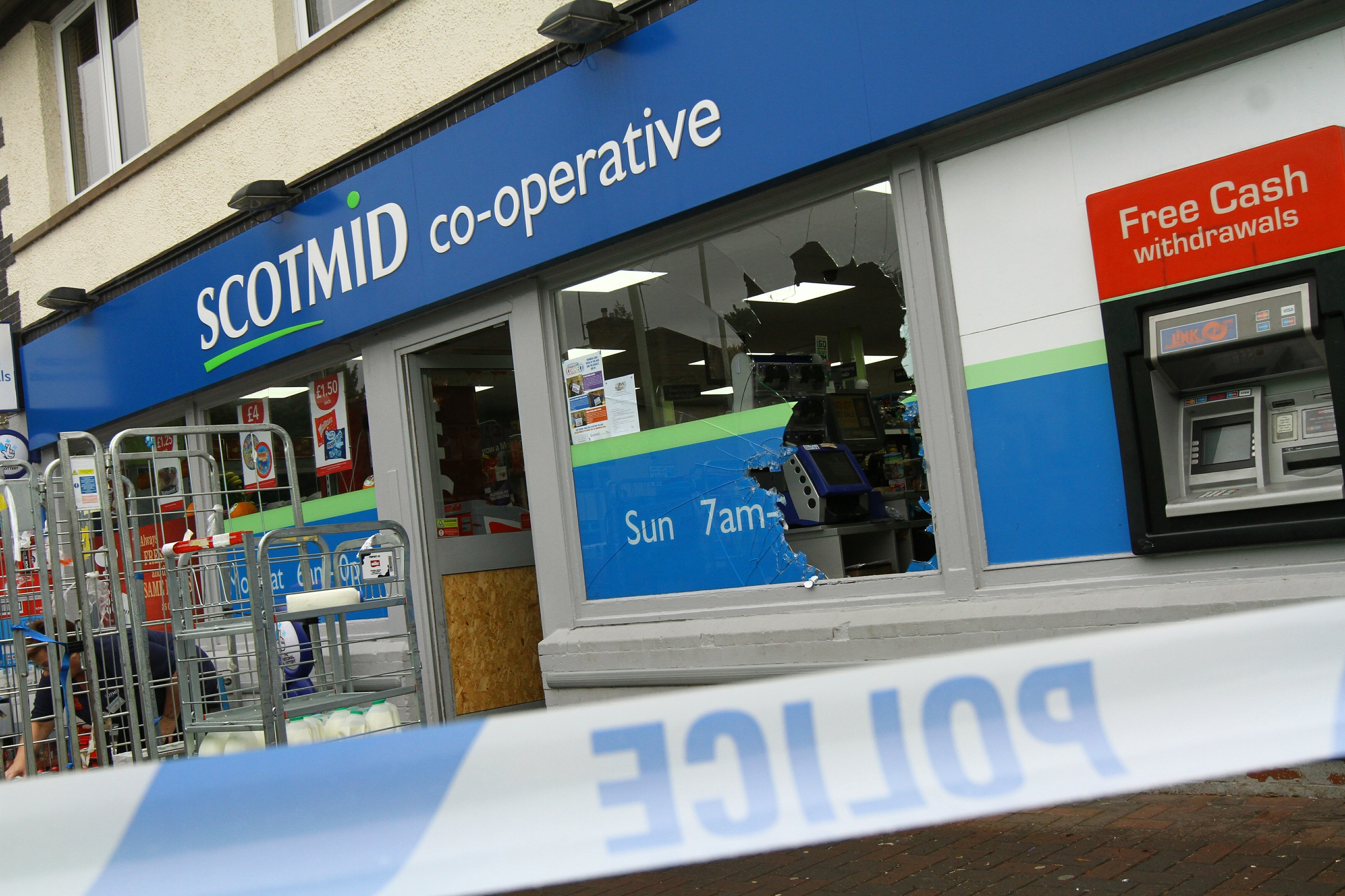 Scotmid on Invergowrie Main Street, which has been broken into again.