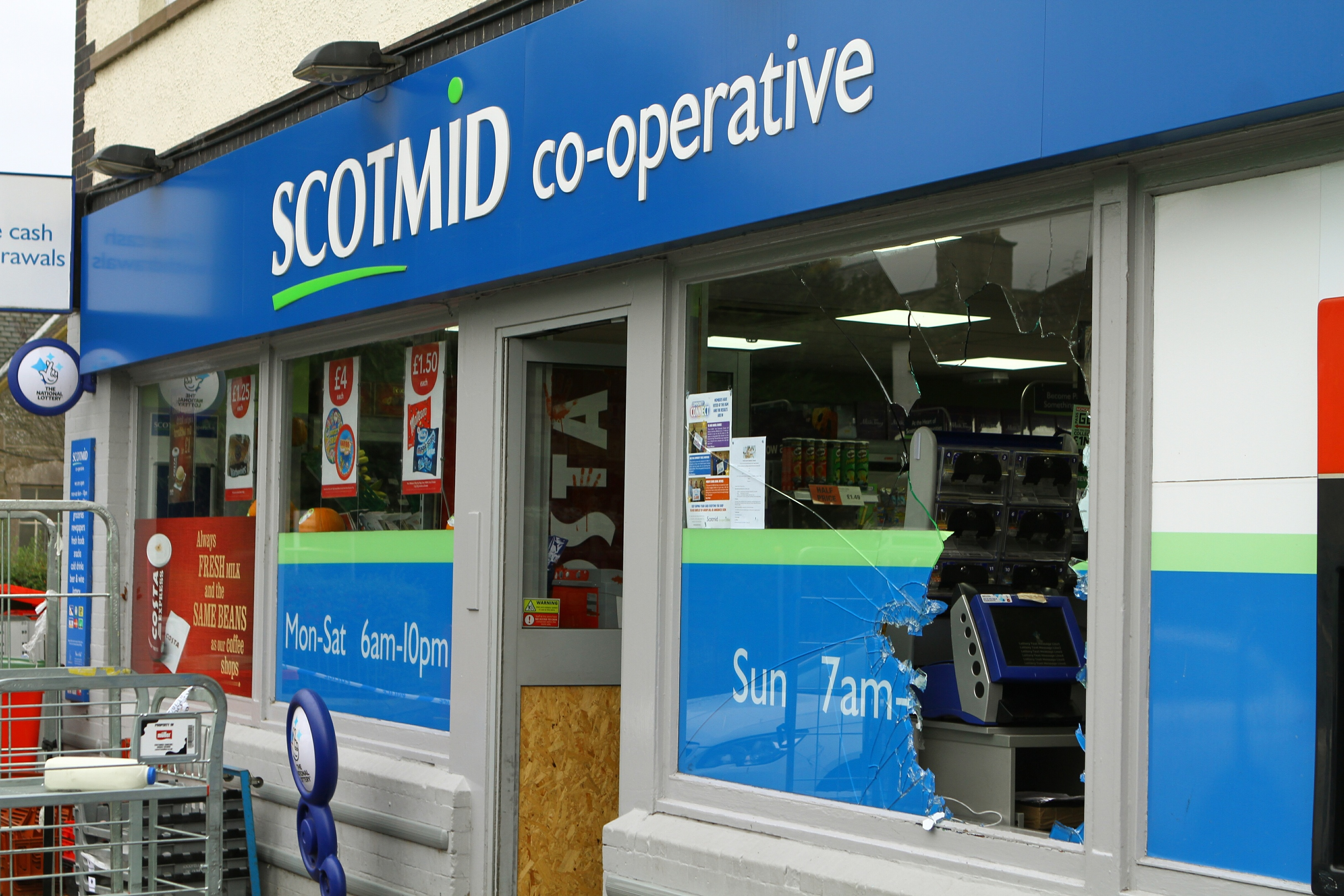Scotmid on Invergowrie Main Street which was broken into again