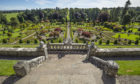 The gardens at Drummond Castle