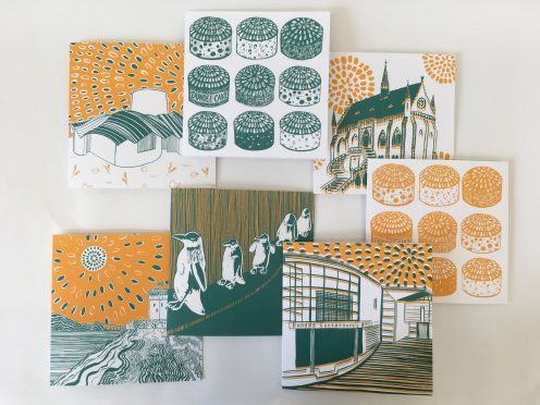 Louise Kirby's Dundee Delights postcard collection.