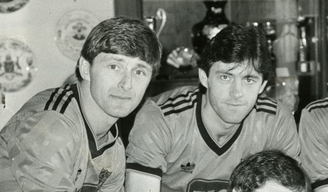 Legendary duo Paul Hegarty and Dave Narey back in the day.