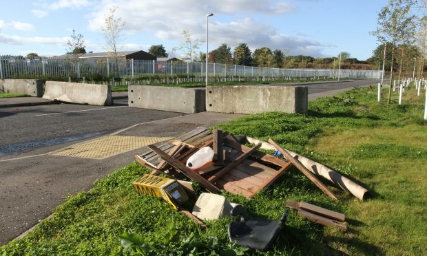 A clear up operation was launched when travellers left the food and drink site