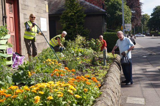 Volunteers with Growing Kirkcaldy were out and about this summer ahead of the judging.