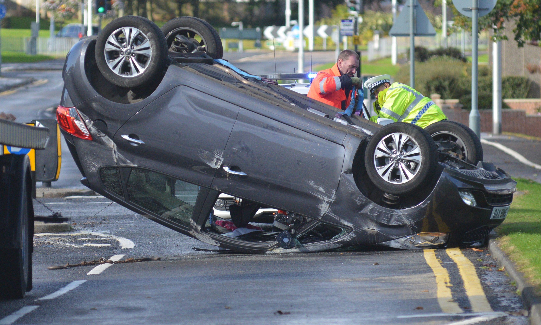 The scene of the crash in Glenrothes.