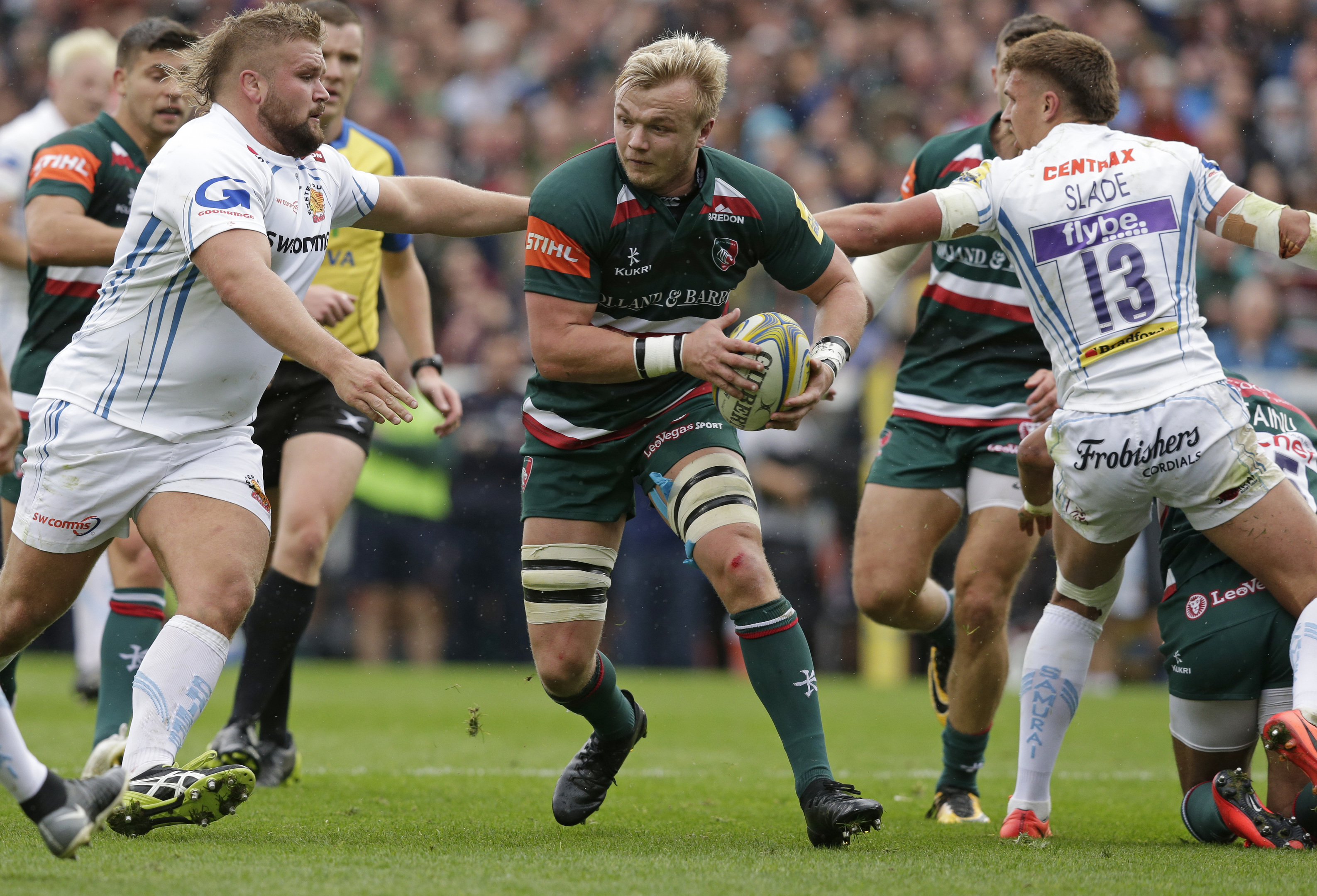 Luke Hamilton of Leicester Tigers was capped at U-20 level for Wales but has committed to Scotland.