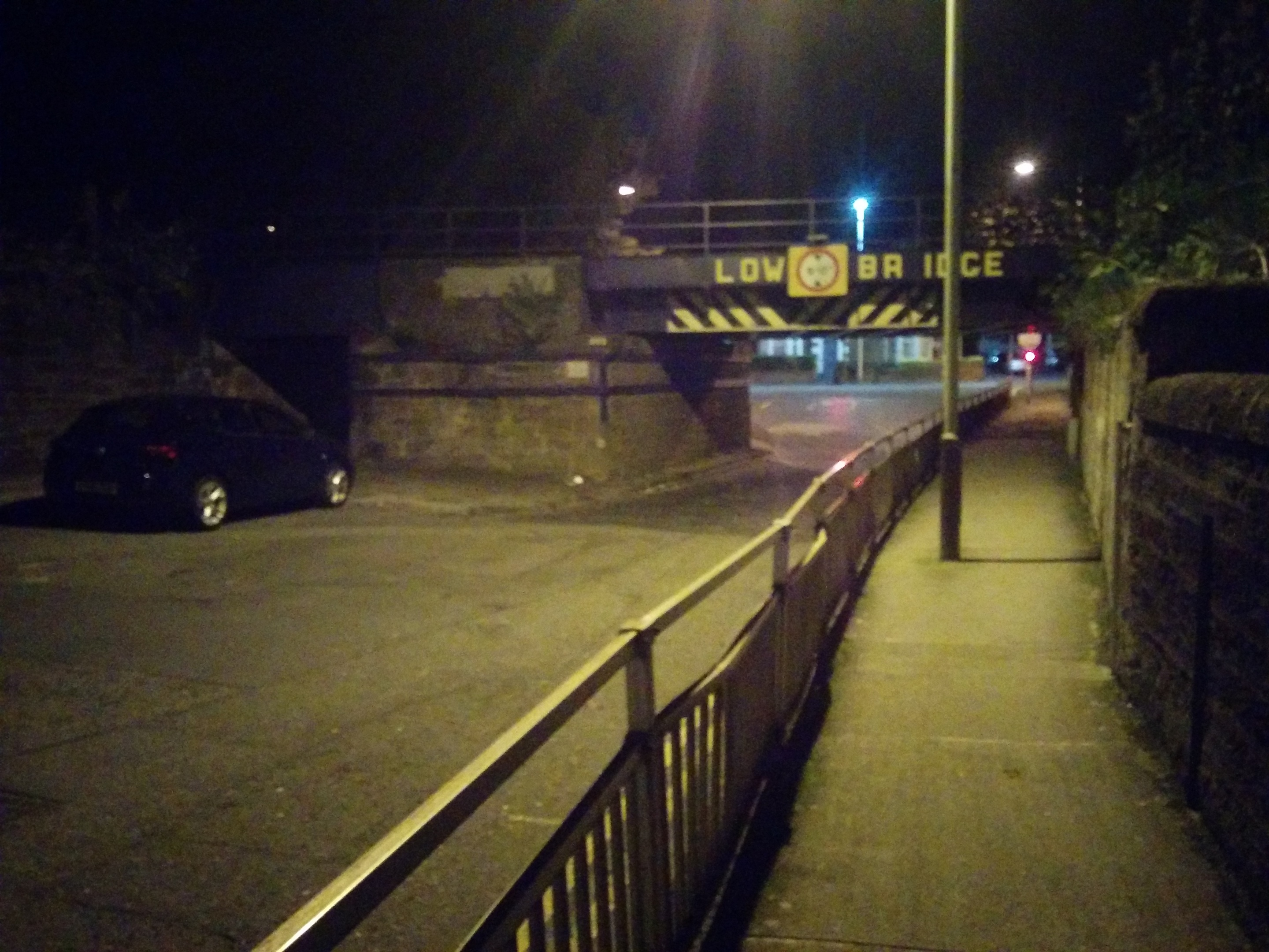 The scene of the accident on Monday evening.