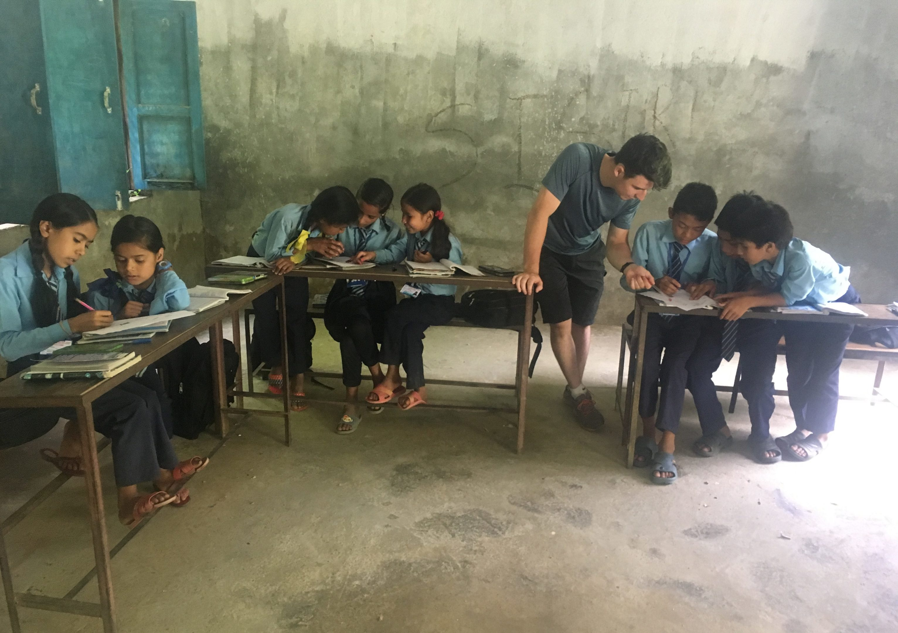 Calum Archibald teaching in Nepal.