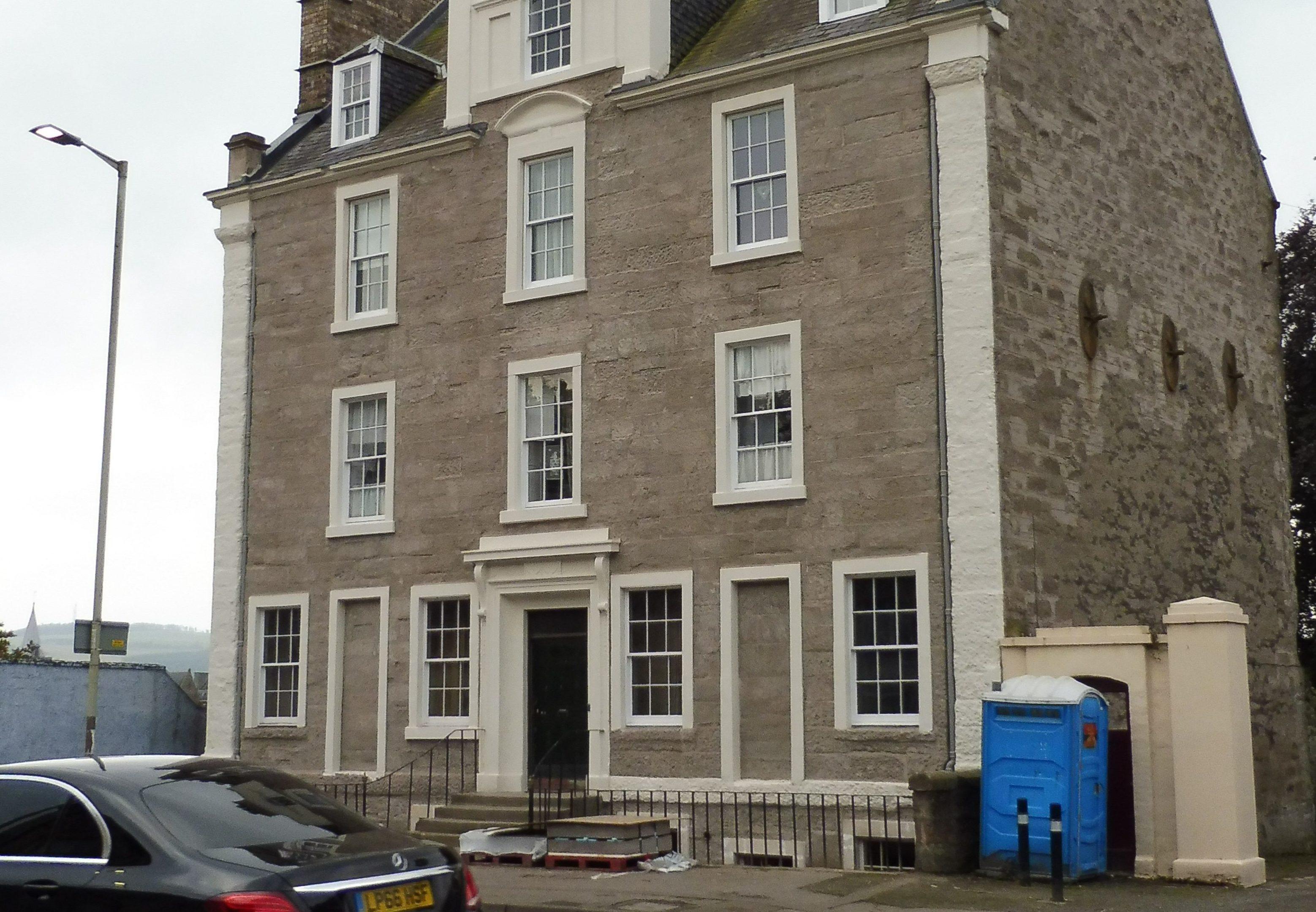 Inchbank House, Bridgend, Perth, after restoration.