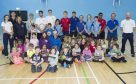 Judy Murray led a tennis coaching session with young volunteers and school children.