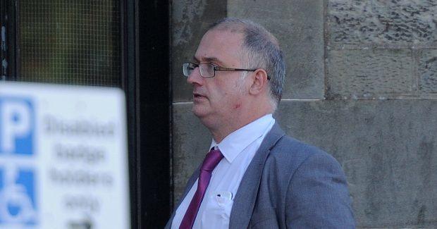 Calum MacGlone arriving at court