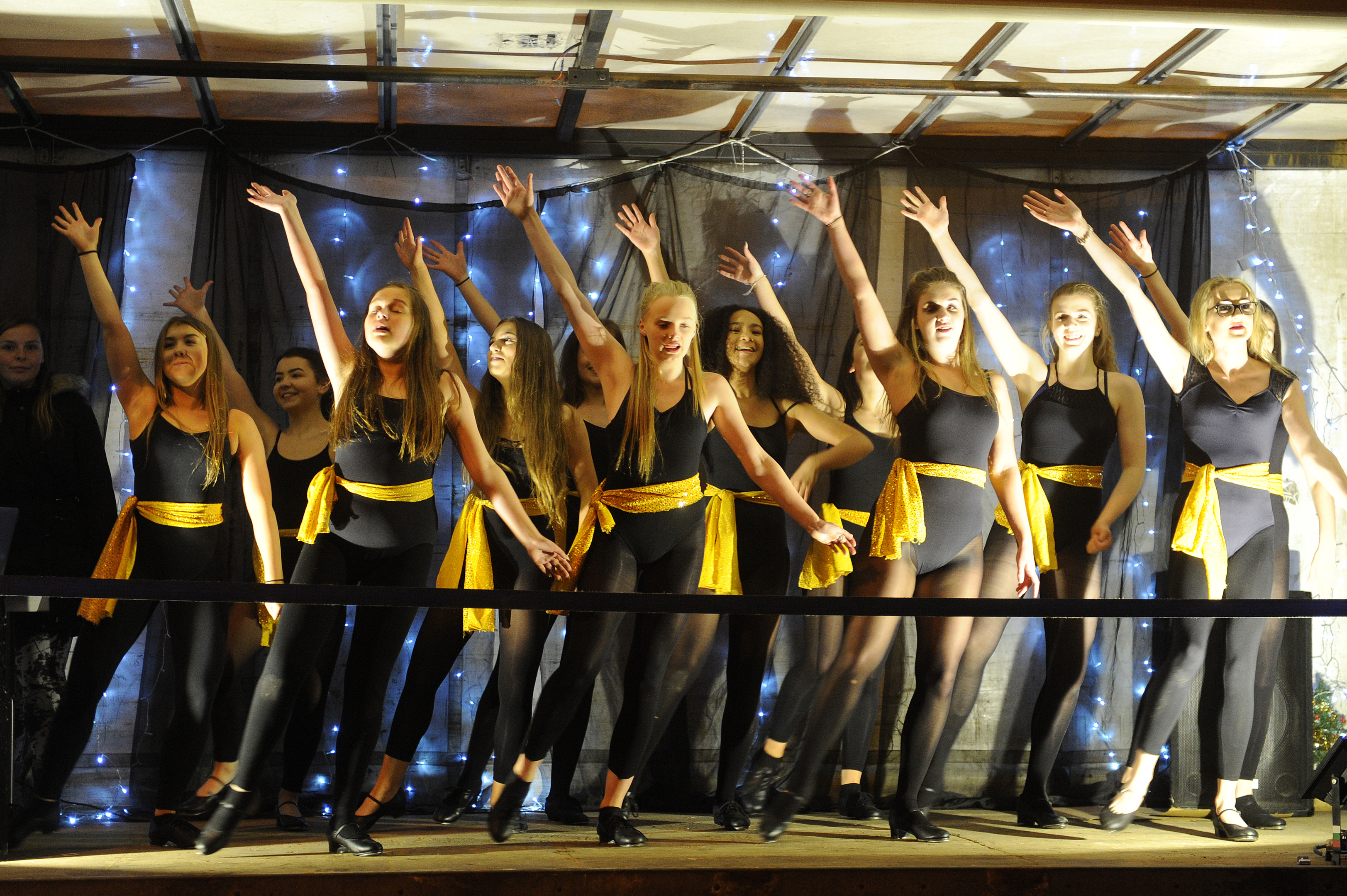 Dancers who opened the 2016 Carnoustie Christmas lights switch-on