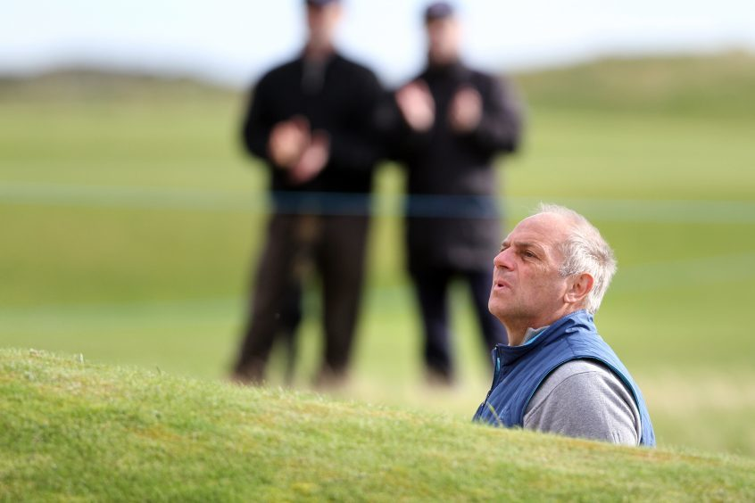 Sir Steve Redgrave planning a route out of bunker.