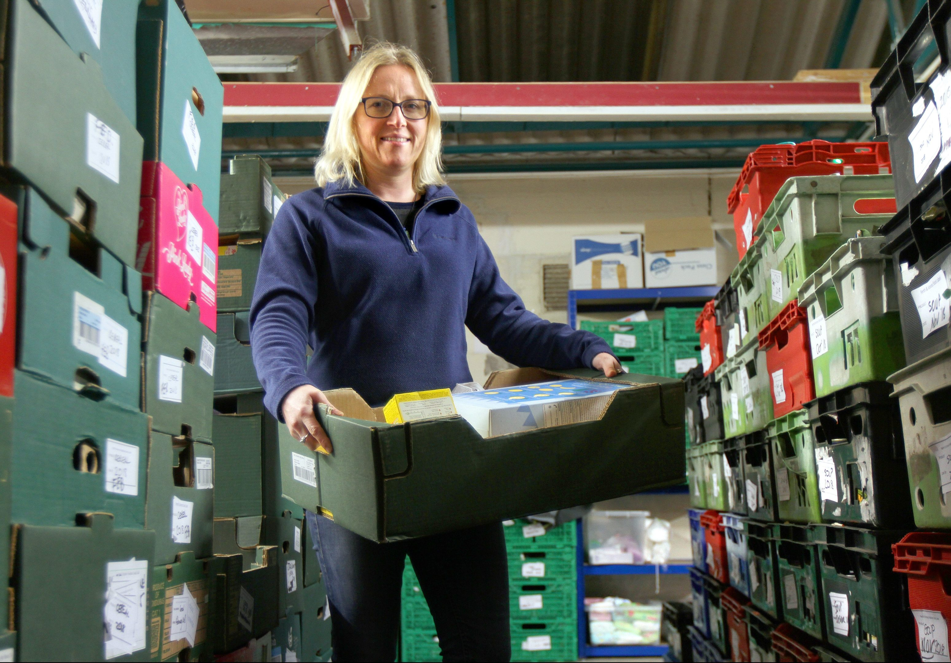 Eleanor Kelleher  at Perth Foodbank.