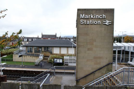 Markinch railway station.