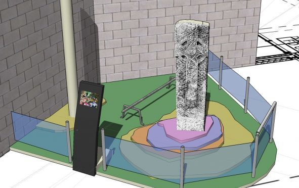 An artist's impression of how the artefacts might be displayed at the Strathearn Community Campus.