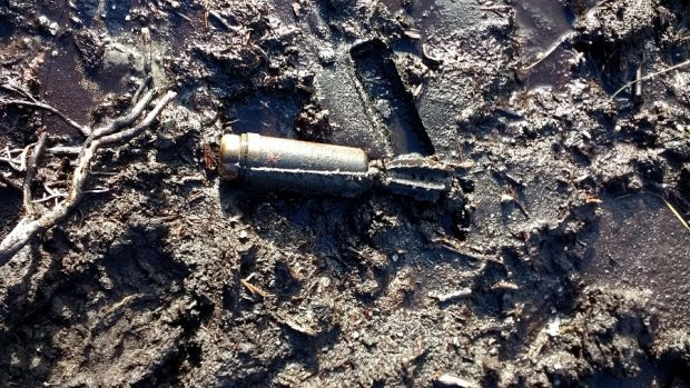 One of the mortar shells.