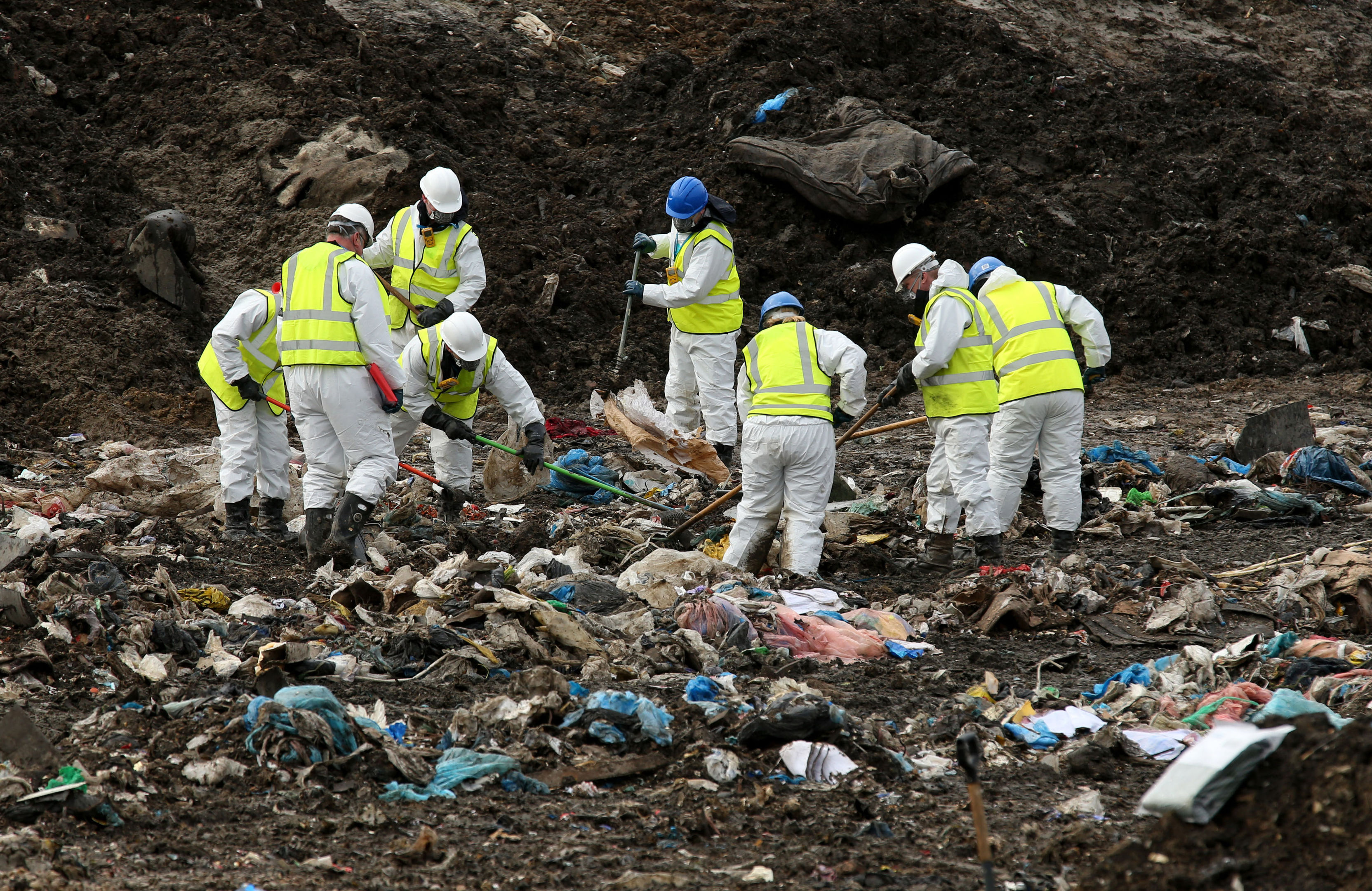 Police previously searched a landfill site in Milton, Cambridgeshire, for missing RAF gunner Corrie McKeague who was last seen on Saturday September 24 in Bury St Edmunds, Suffolk.
