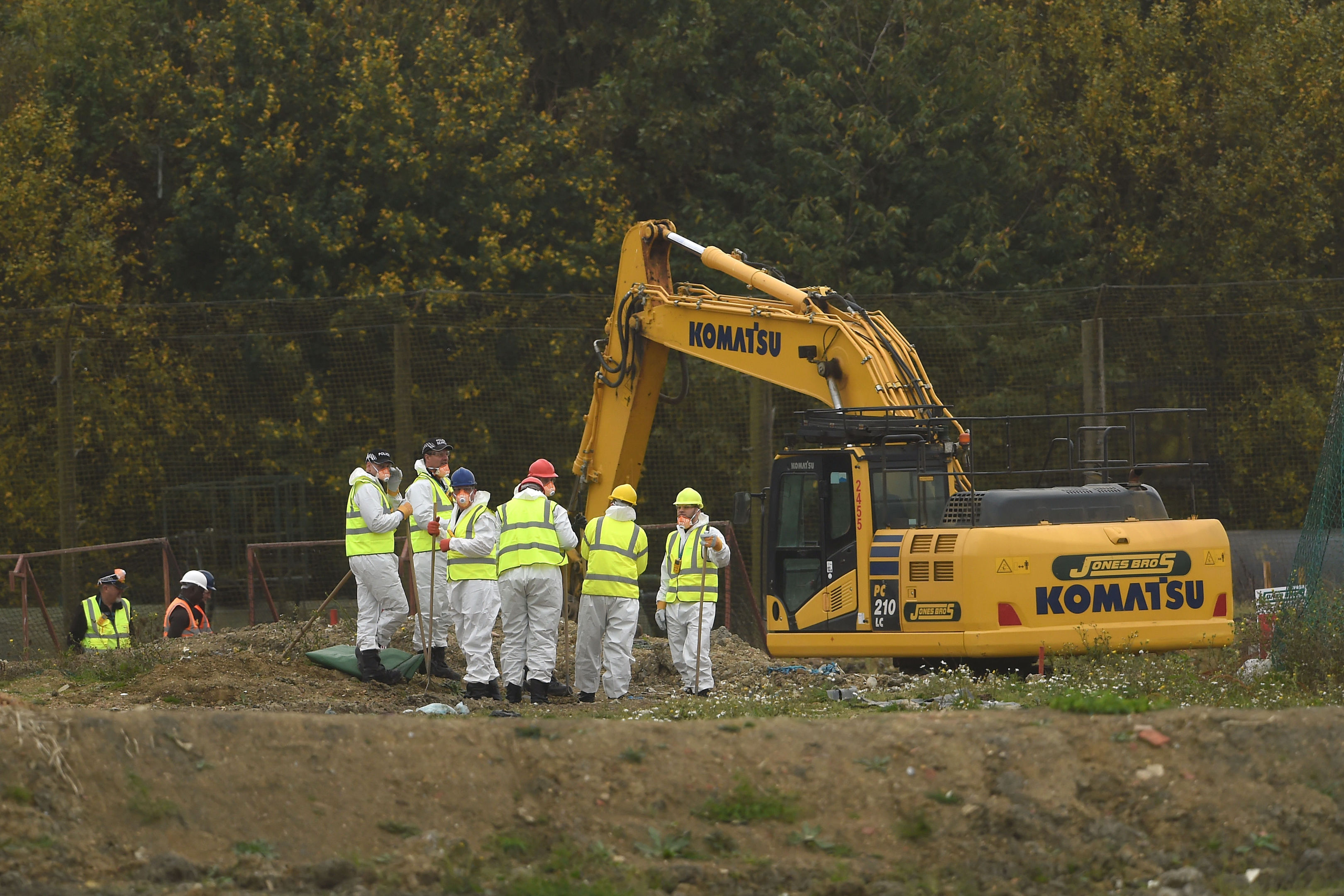 Police begin to search a new area of a landfill site in Milton, Cambridgeshire, for missing RAF gunner Corrie McKeague who was last seen on September 24 2016 in Bury St Edmunds, Suffolk.