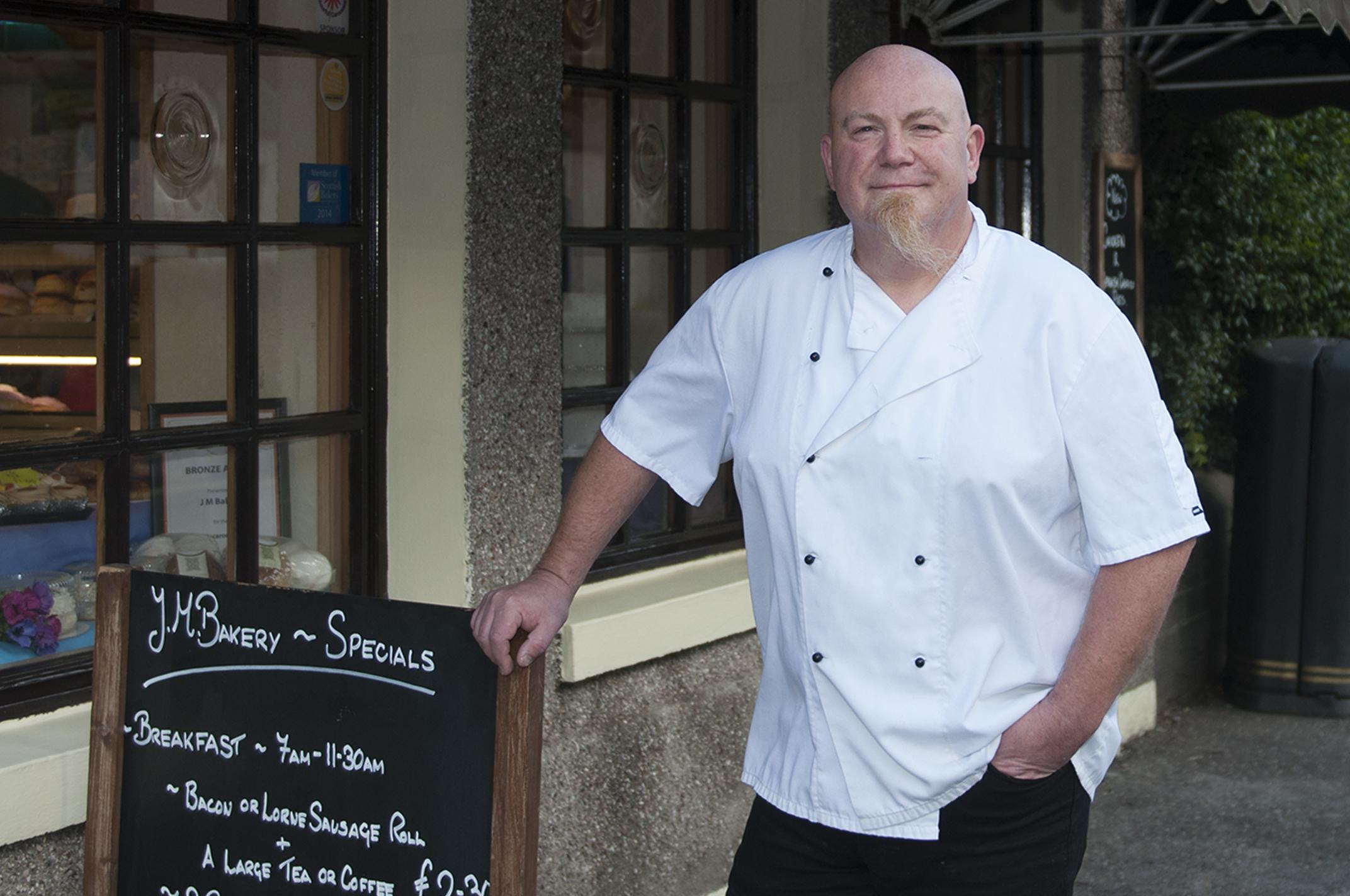 Mark Robb of J M Bakery in Carnoustie