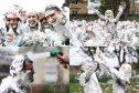 St Andrews University's traditional Raisin Monday foam party. Photos: Mhairi Edwards.
