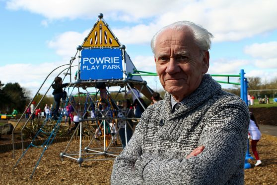 Ron Neave at Powrie Park.