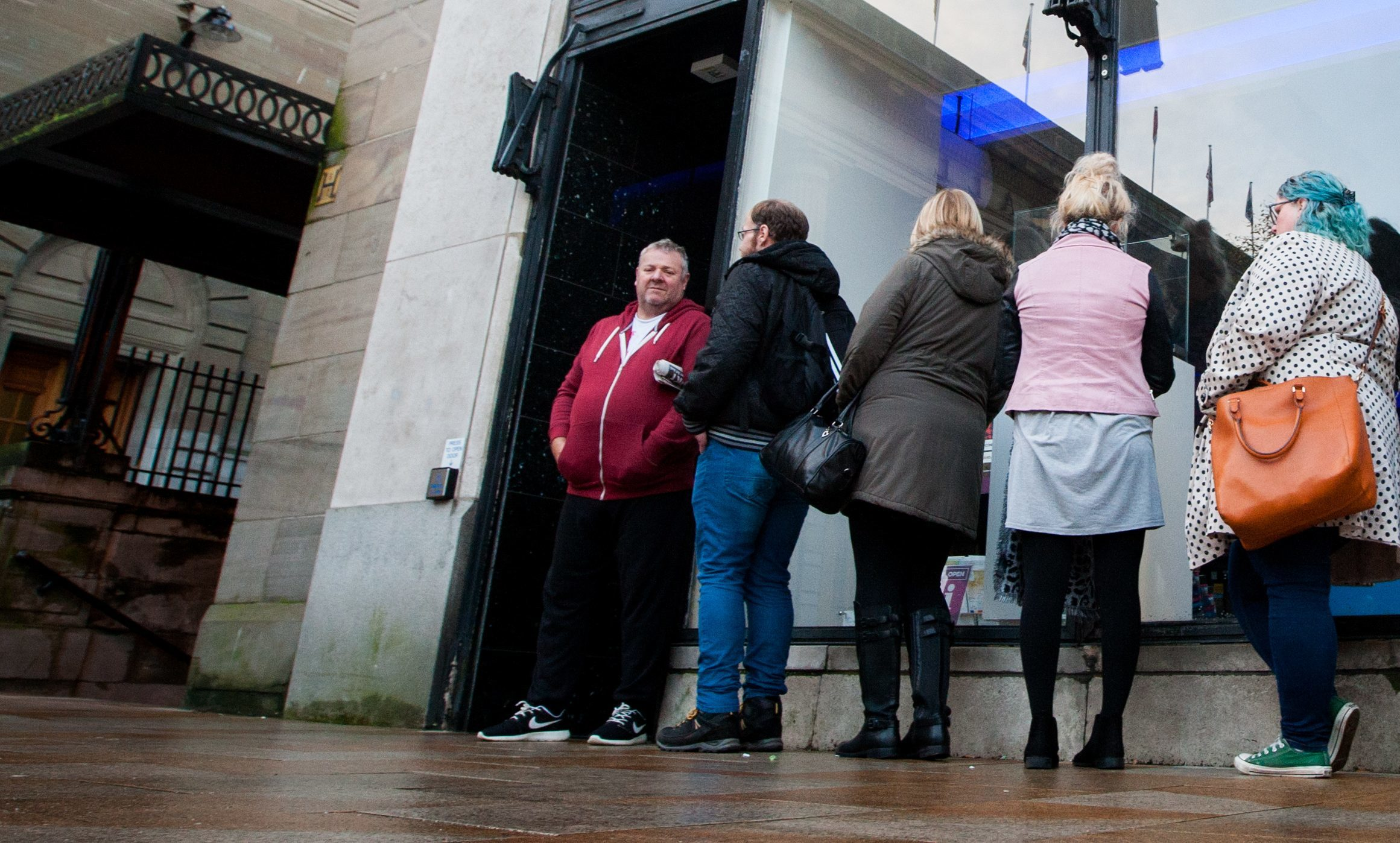 The queue at Dundee Box Office shortly before 9am.
