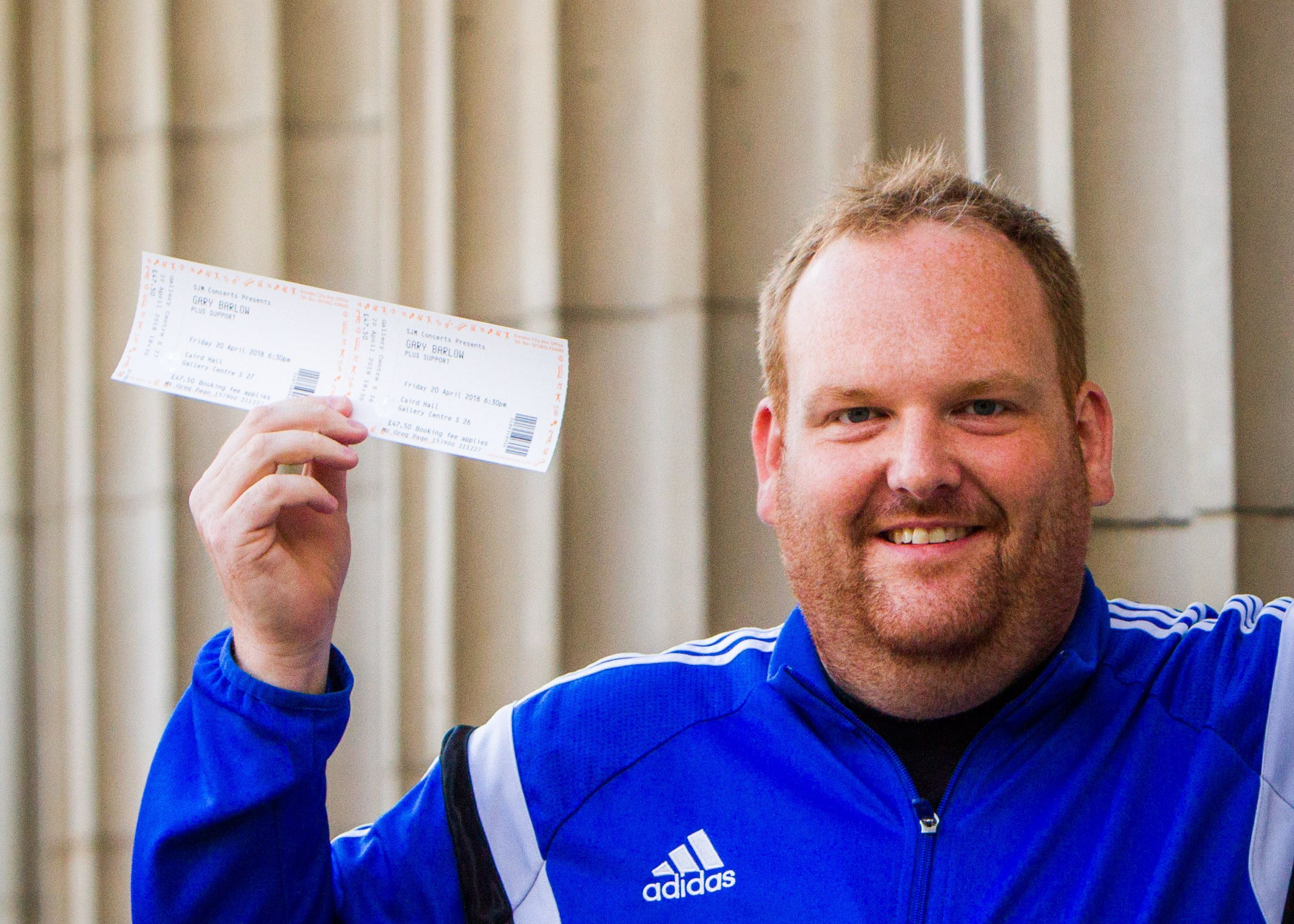Greg Page from Dundee is surprising his wife Zee with tickets to Gary Barlow.