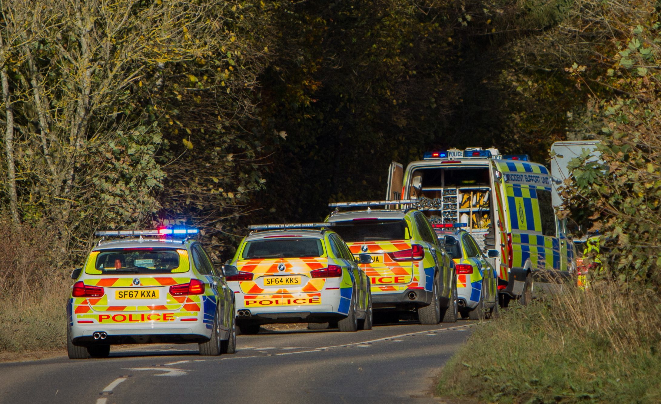 Police closed the road near Guildtown