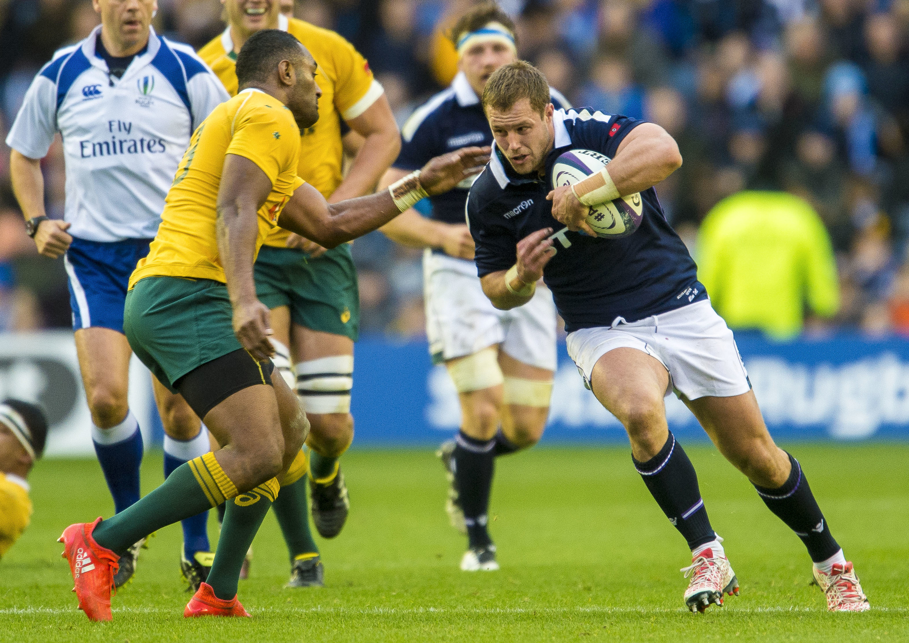 Scotland prop Allan Dell will start for Edinburgh for the first time this season at London Irish.