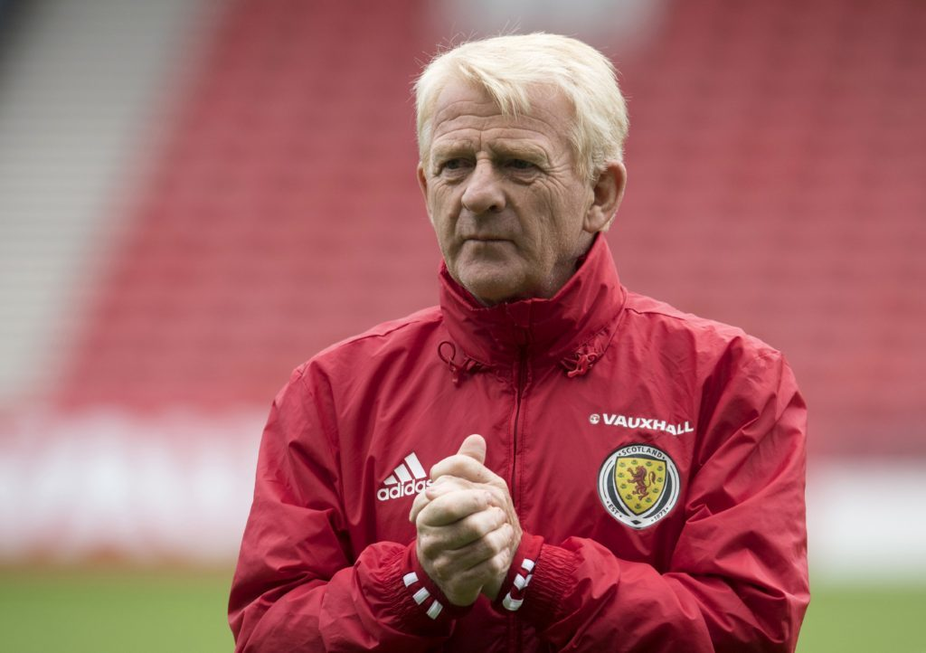 Strachan during his time as Scotland gaffer
