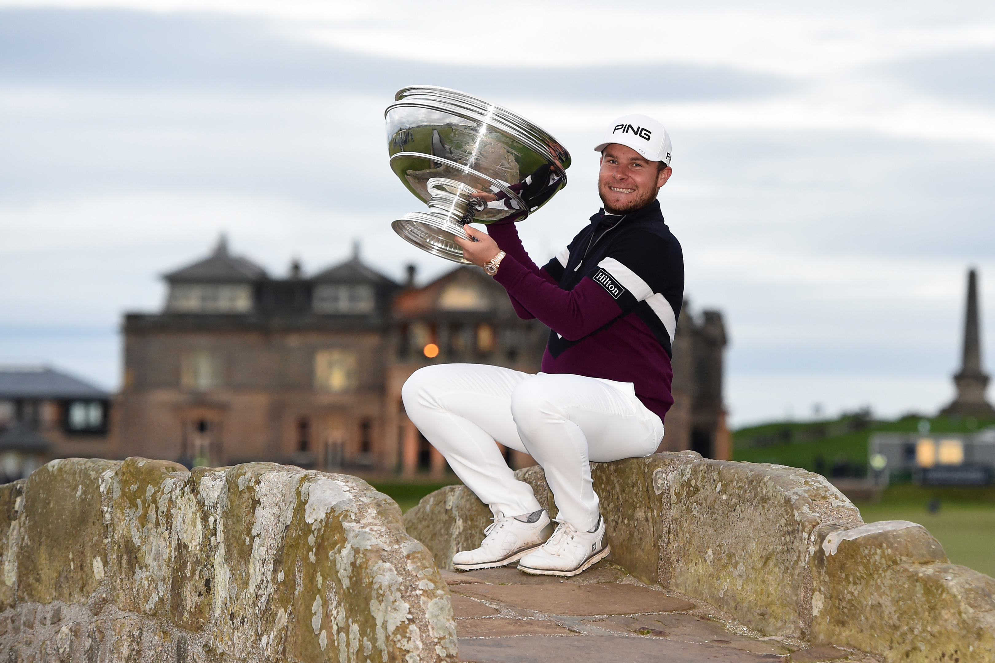 Tyrrell Hatton keeps the enormous Dunhill Links trophy for a another year.