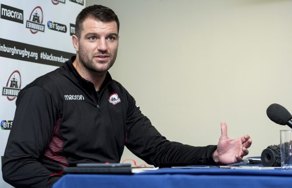 Fraser McKenzie speaks to the media after taking over the Edinburgh club captaincy.
