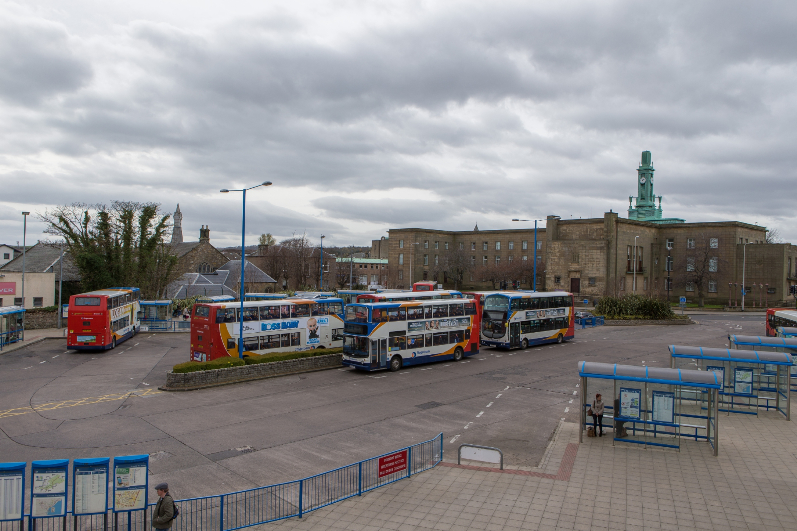 The assault is alleged to have occurred near Kirkcaldy Bus Station on Saturday evening