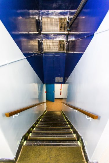 Staircase to Sub Level 3 and Sector Control