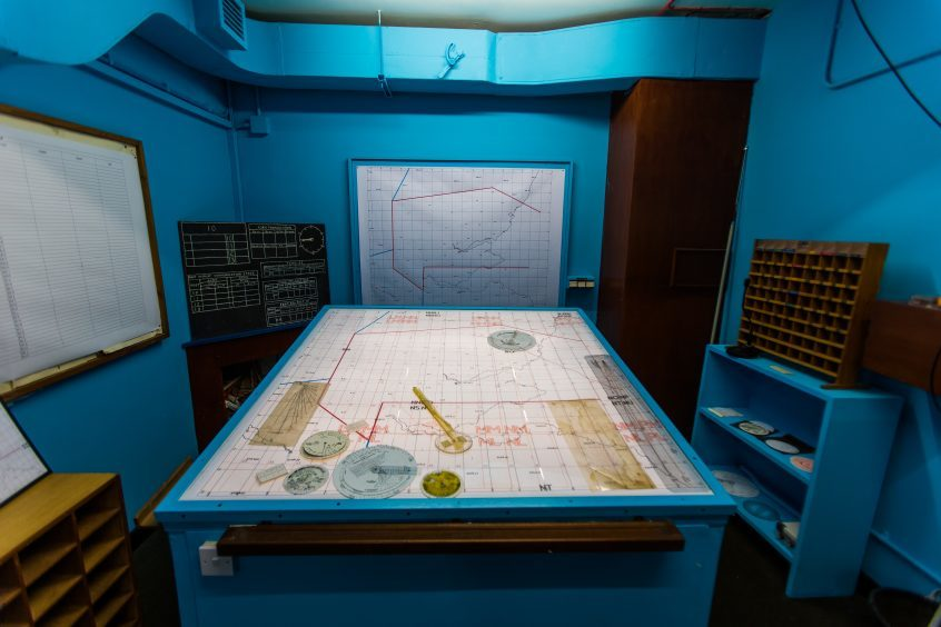 Fallout and detonations were recorded in this room