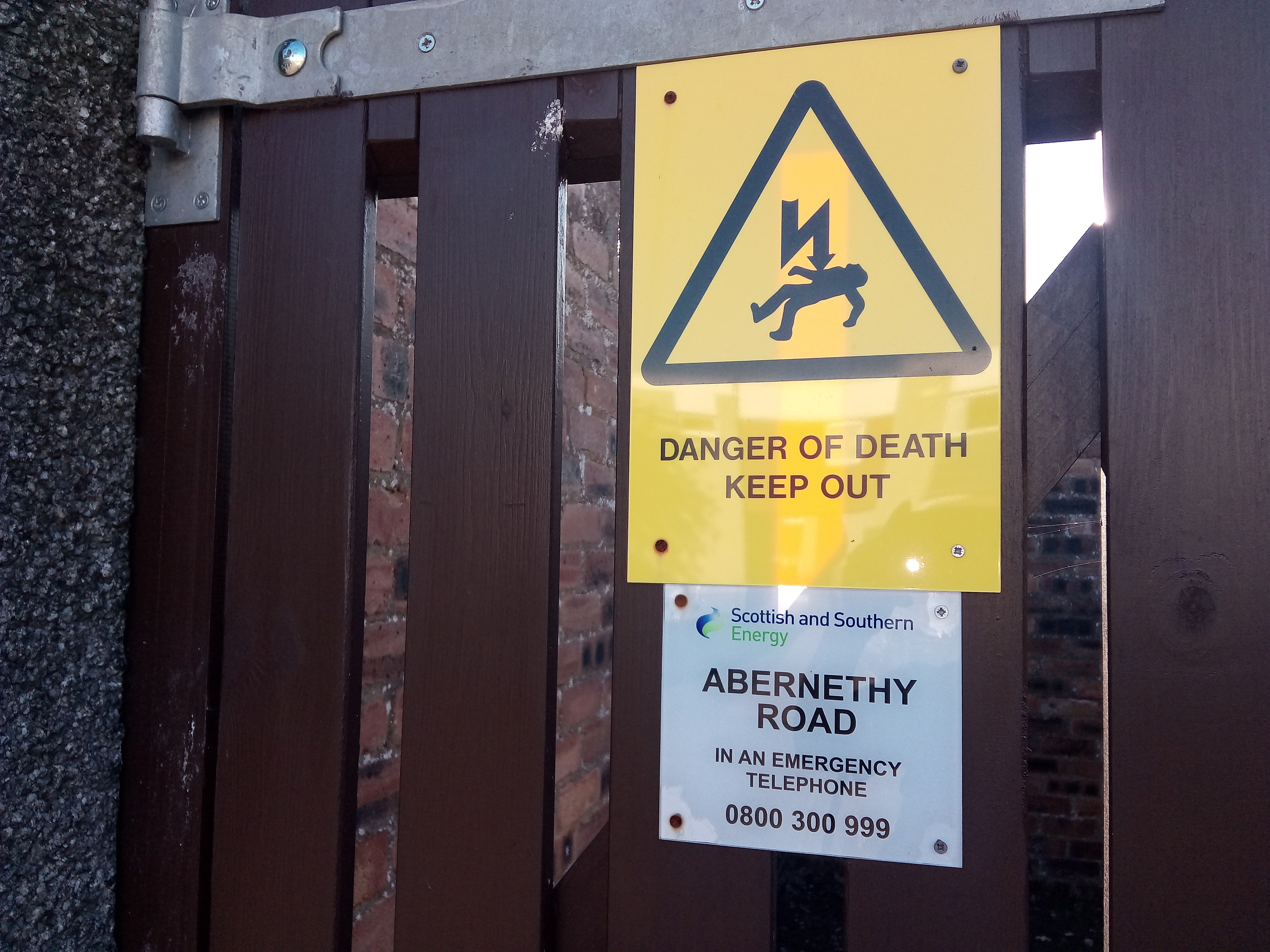 The youths were said to have been putting themselves in danger by playing near the electricity sub station.