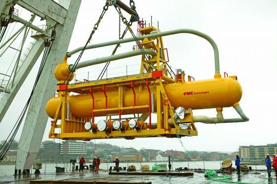 A FMC Technologies built subsea separation unit.