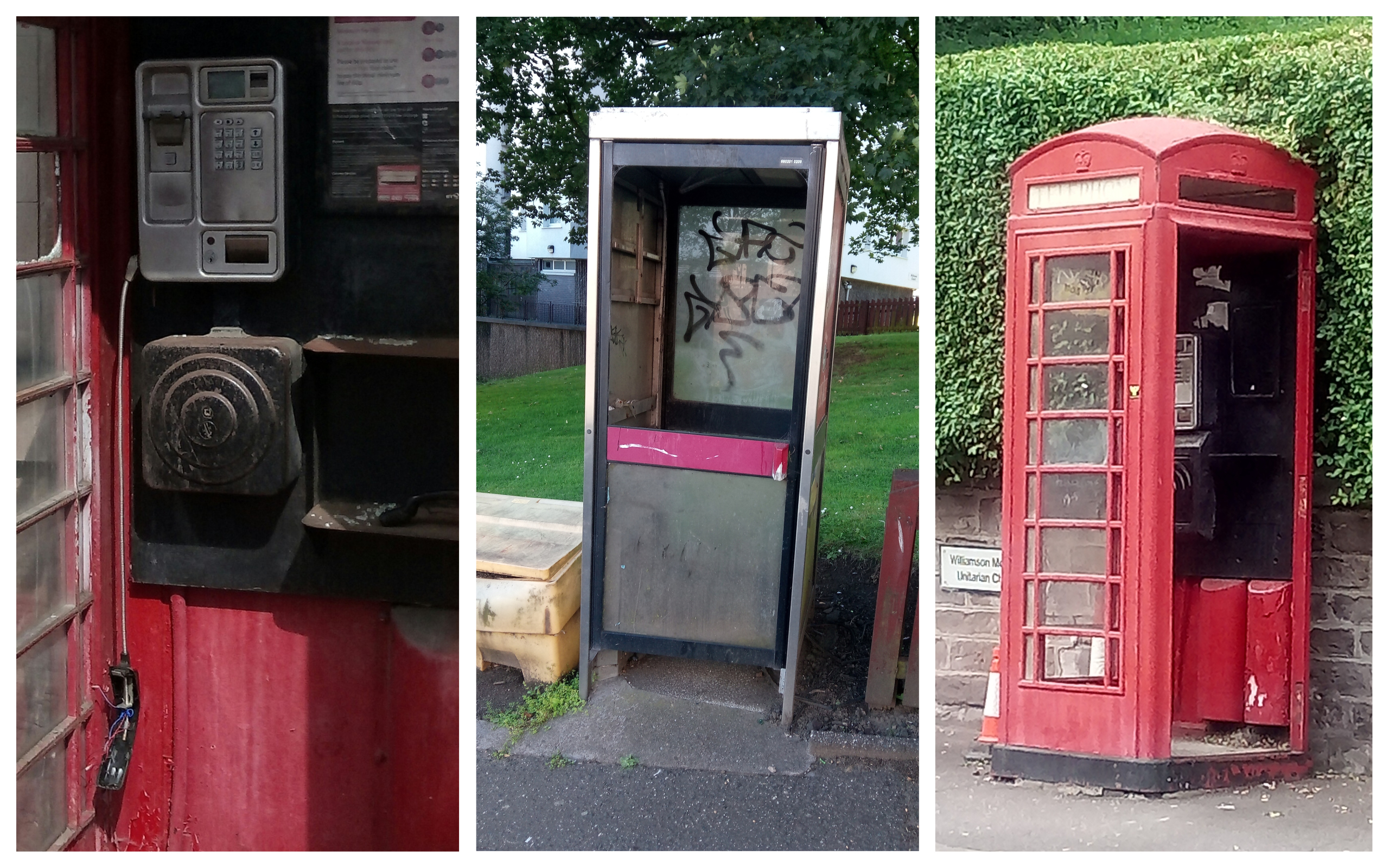 Phone boxes in Coldside