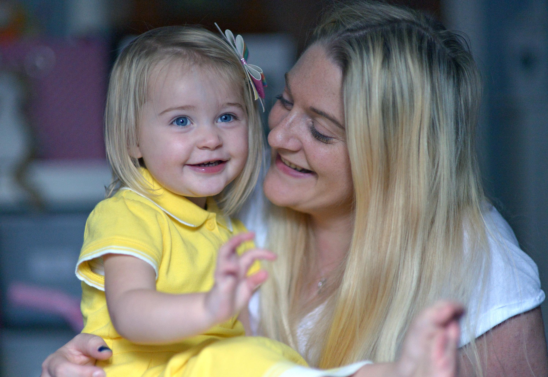 Susanna Murdoch and daughter Bella, 2.