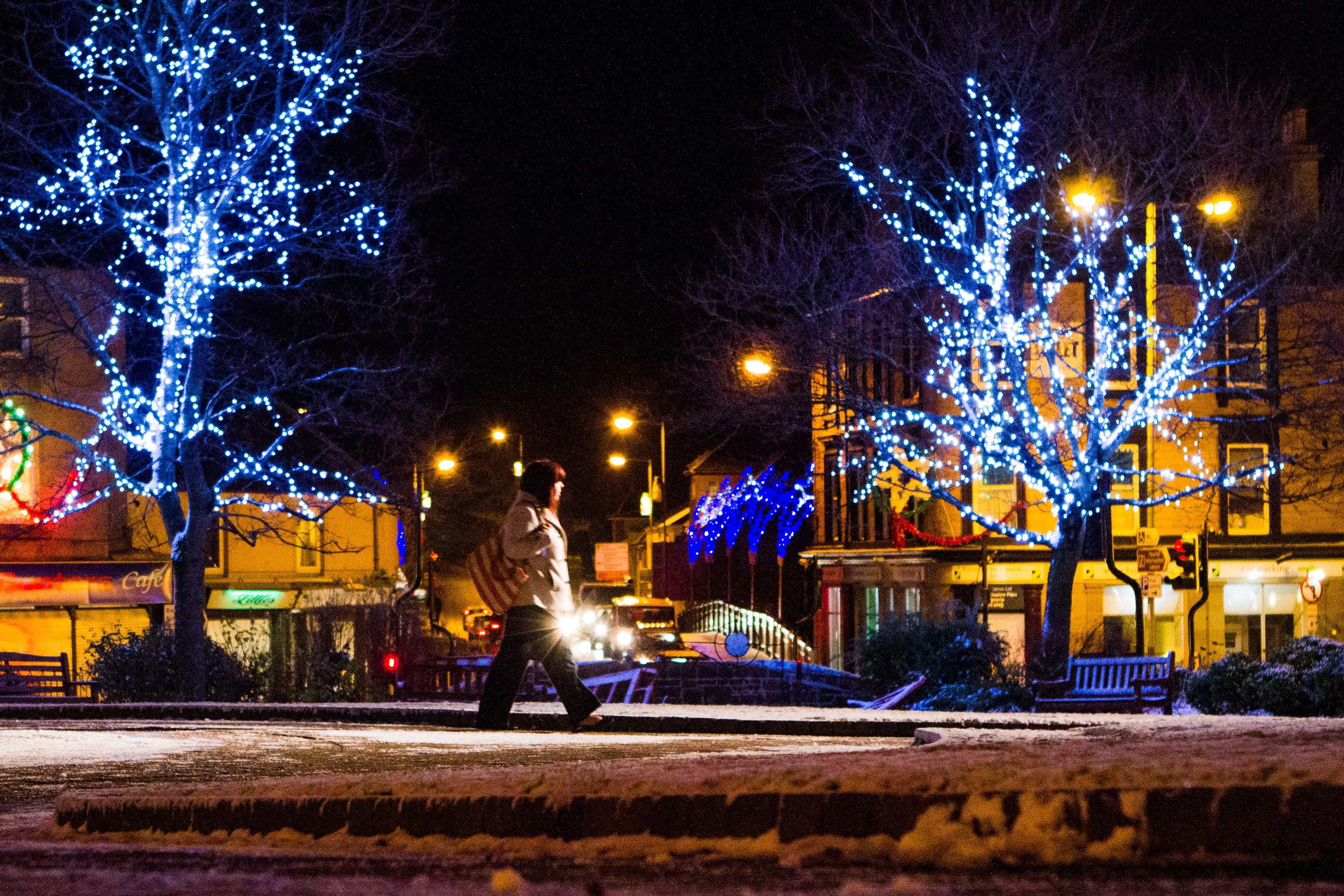 Christmas lights brighten up the Wellmeadow every year.