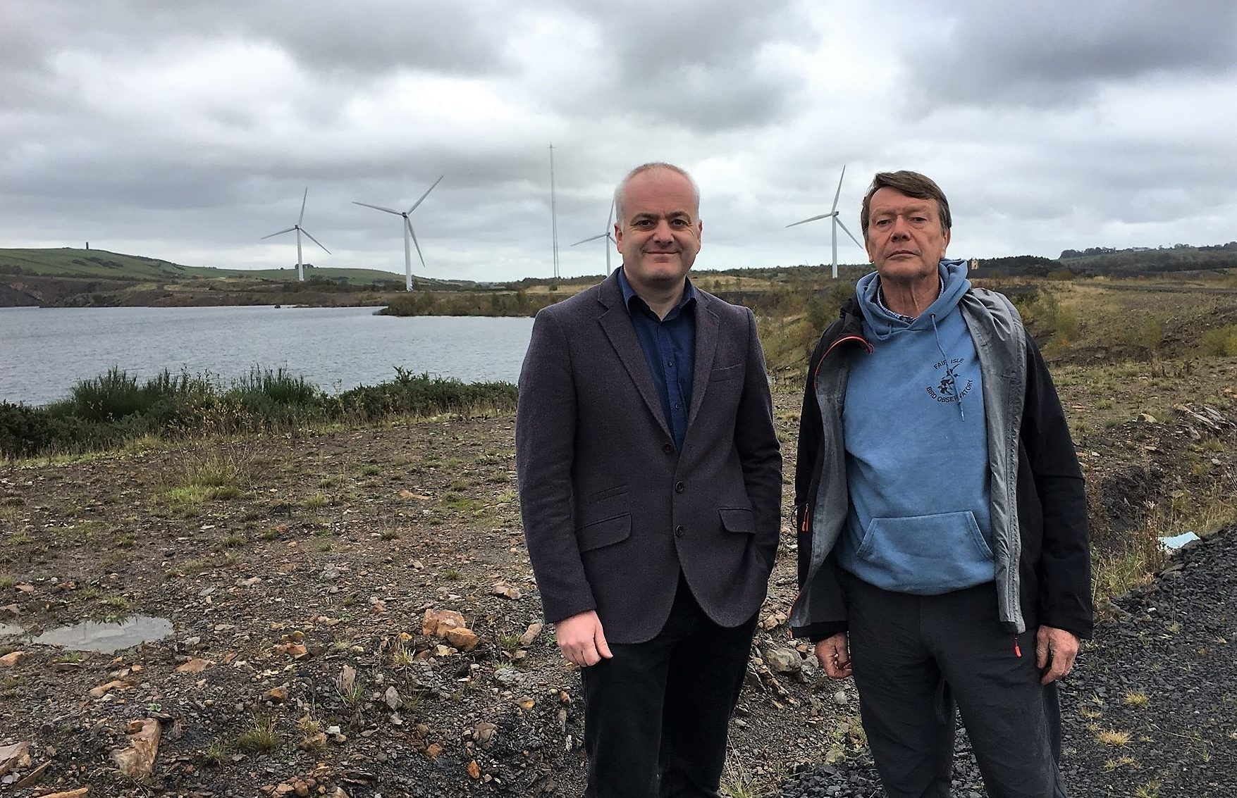 Mark Ruskell with Dave Batchelor at the site