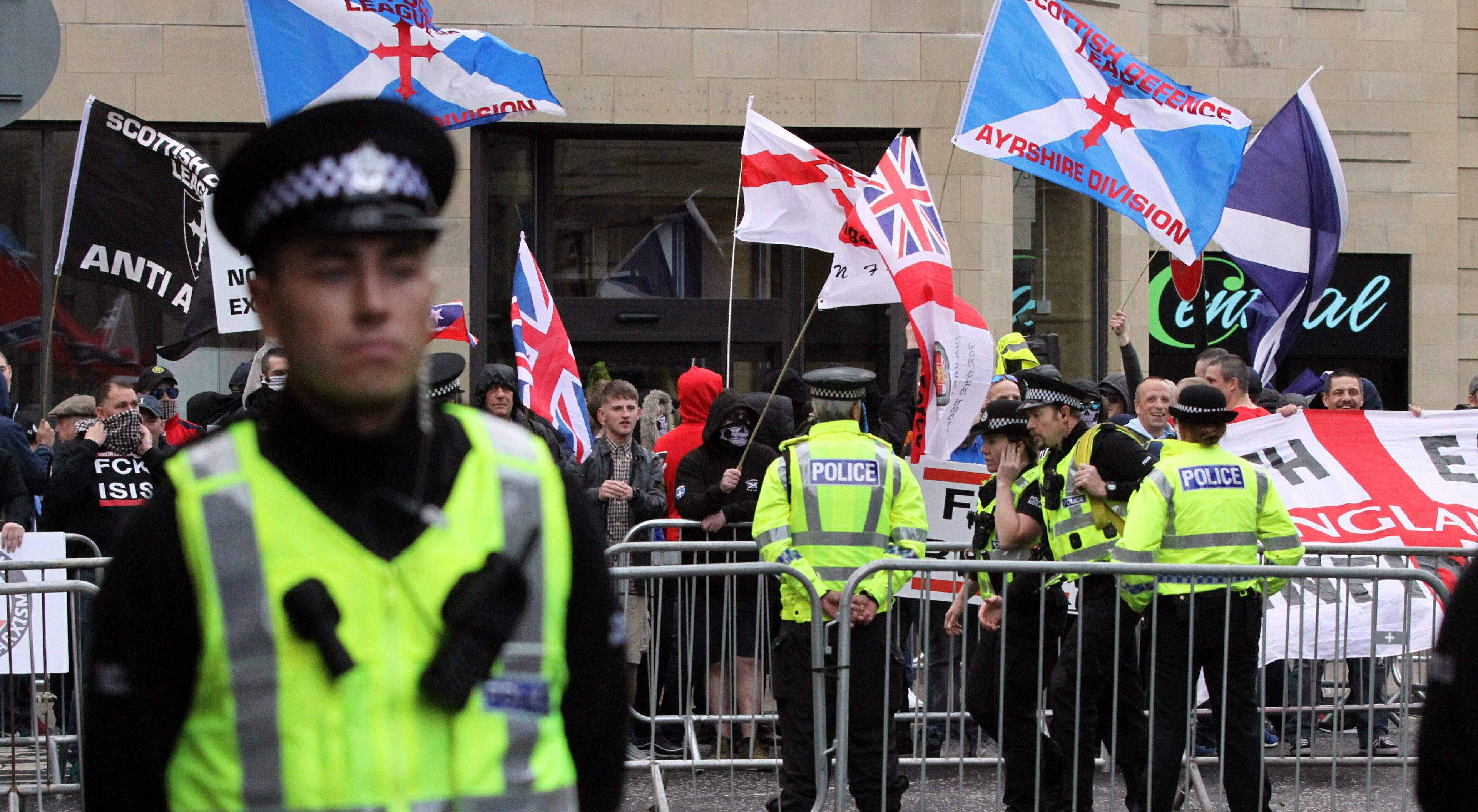 The Scottish Defence League in Perth.