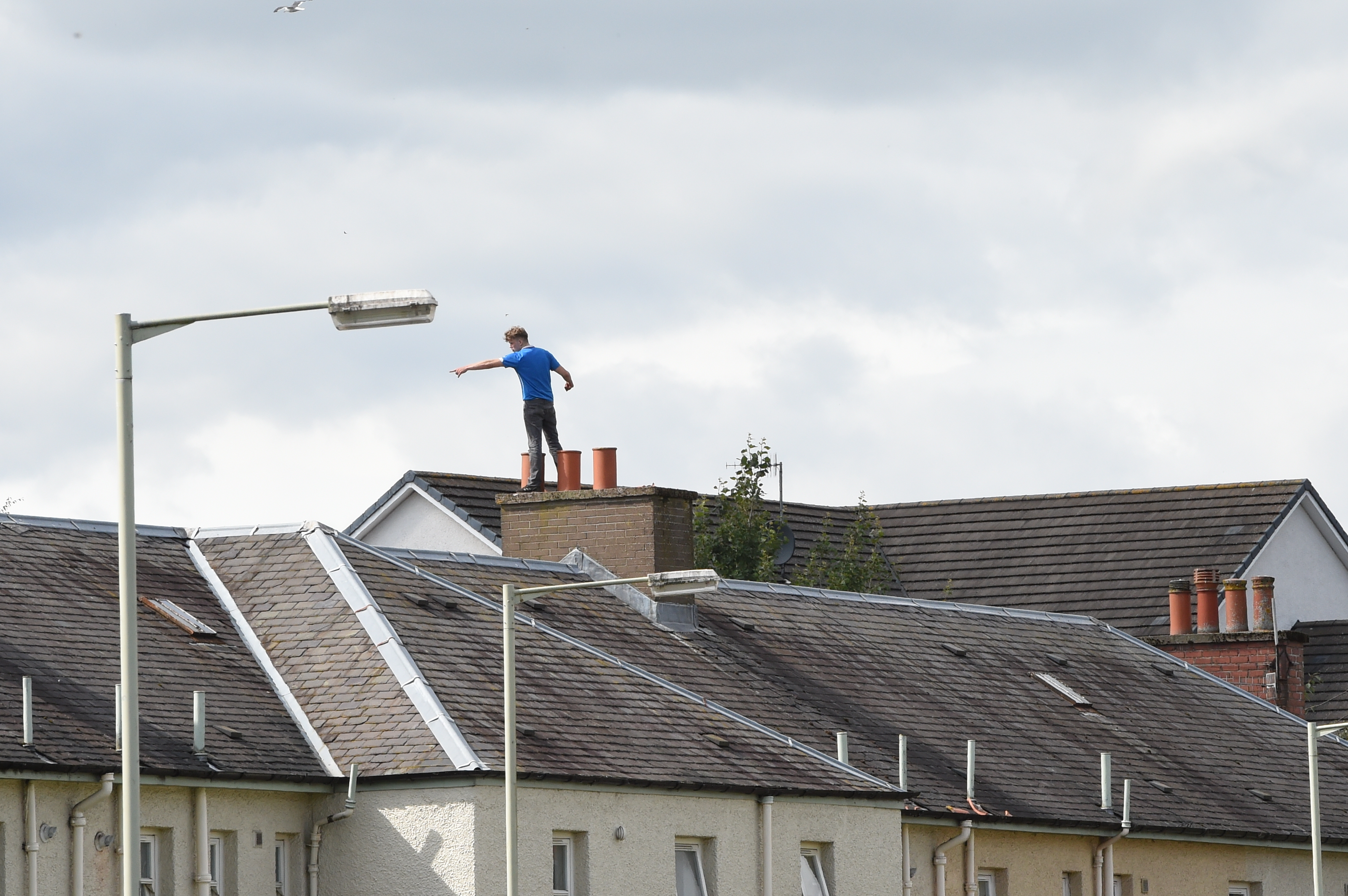 Danny Stewart was on the roof for around seven hours.