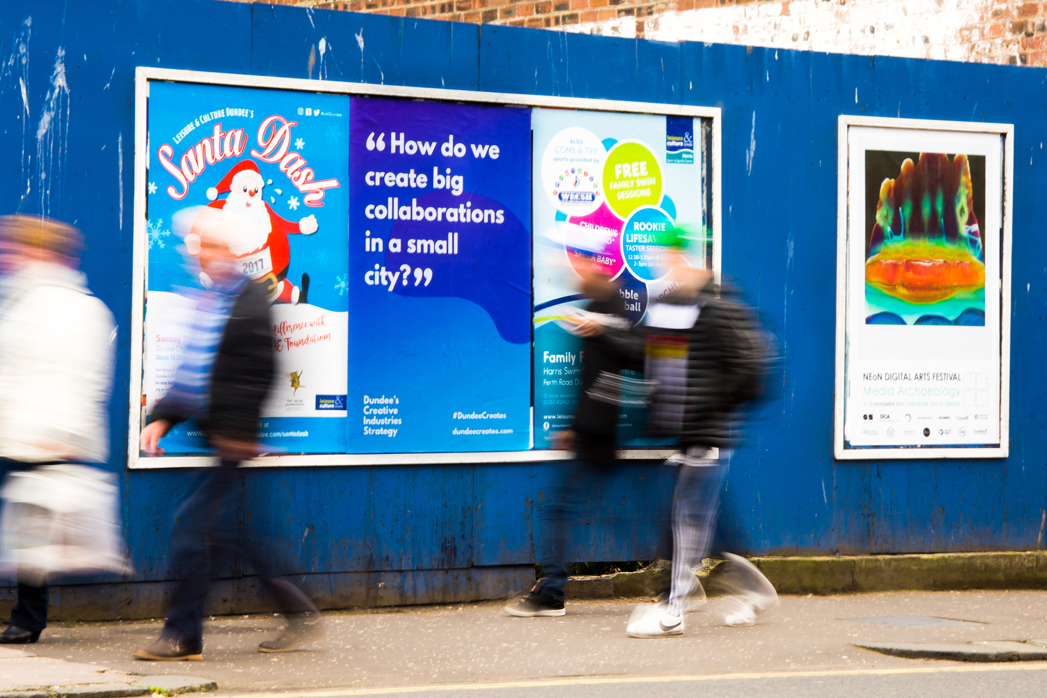 One of the new posters put up around Dundee to highlight the new strategy.