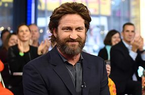 Gerard Butler has been in New York speaking about his shaggy appearance while promoting his latest film.