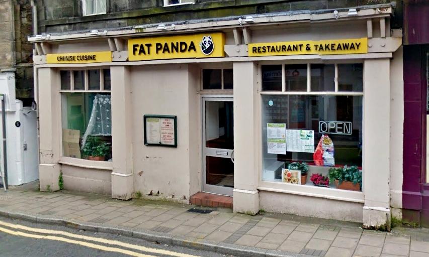 The Fat Panda takeaway in Dunfermline.