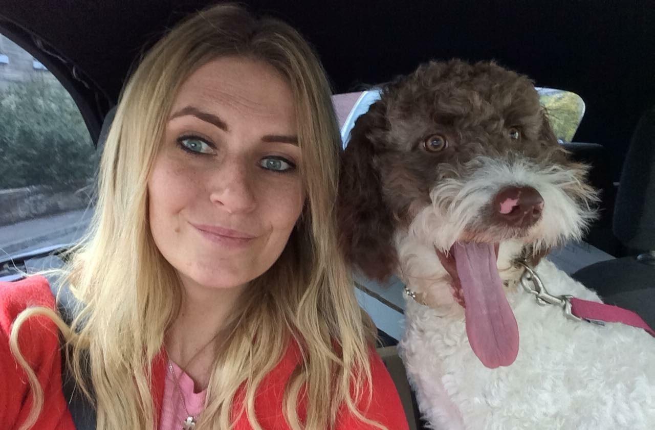 Rachel and her dog Ester.